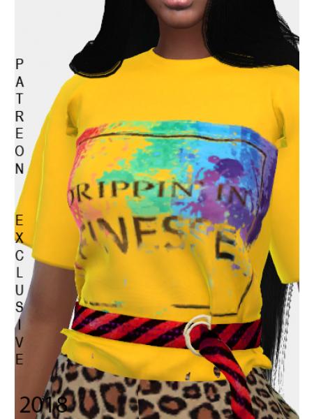 T-shirt Mix with belt