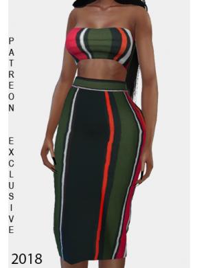 Tone Stripe Dress