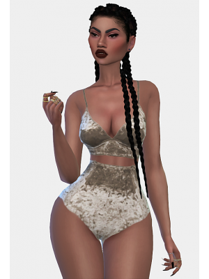 FELIX Velvet Panties & Bra