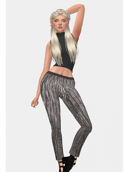 CROPPED METALLIC TROUSERS